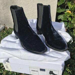 Christian Dior heel booties suede diamonds tomboy